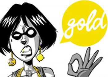 lucca comics gold logo giohi uniti